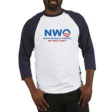 No Obama NWO No we can't Baseball Jersey