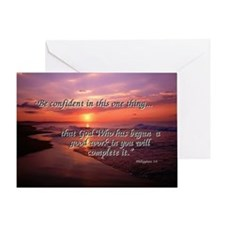 Stunning Sunrise with Phil 1:6 Greeting Card