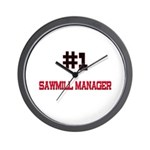 Number 1 SAWMILL MANAGER Wall Clock
