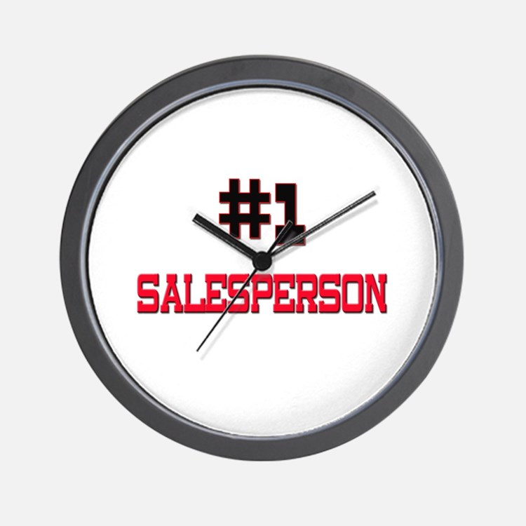 Number 1 SALESPERSON Wall Clock