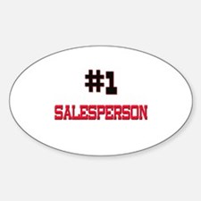 Number 1 SALESPERSON Oval Decal