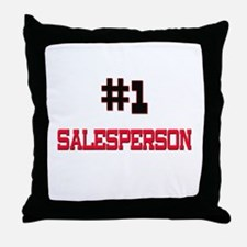 Number 1 SALESPERSON Throw Pillow