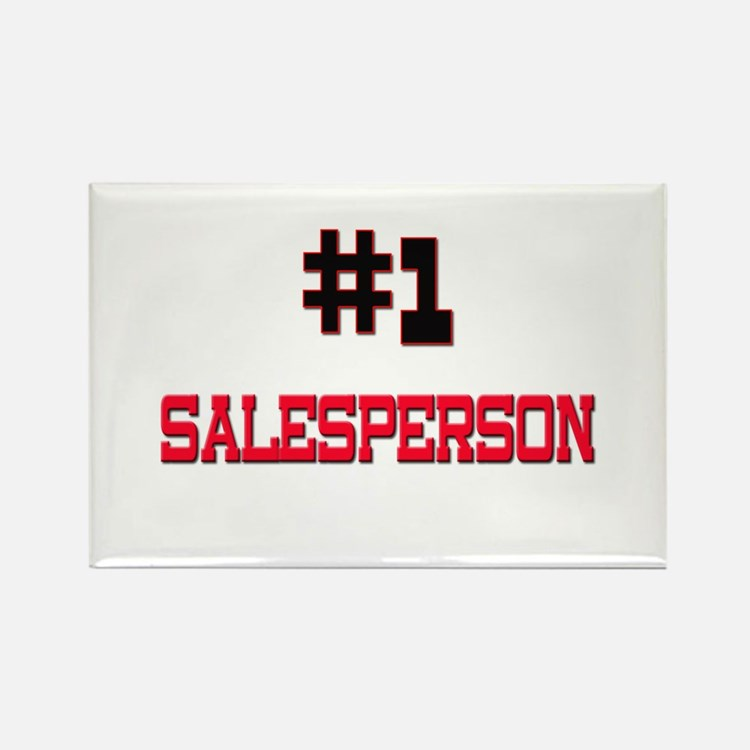 Number 1 SALESPERSON Rectangle Magnet