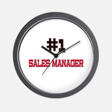 Number 1 SALES MANAGER Wall Clock