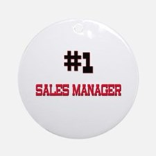 Number 1 SALES MANAGER Ornament (Round)
