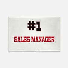 Number 1 SALES MANAGER Rectangle Magnet