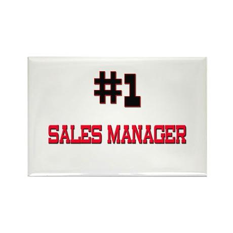 Number 1 SALES MANAGER Rectangle Magnet (10 pack)