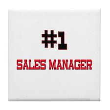 Number 1 SALES MANAGER Tile Coaster