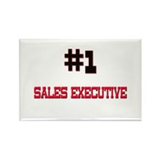 Number 1 SALES EXECUTIVE Rectangle Magnet