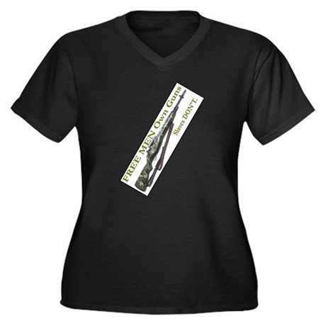 Free Men own rifles#2 Women's Plus Size V-Neck Dar