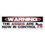 Asses in Control Bumper Sticker