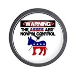 Asses in Control Wall Clock