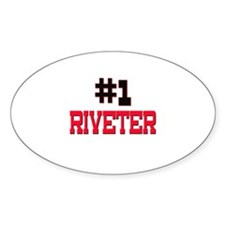 Number 1 RIVETER Oval Decal
