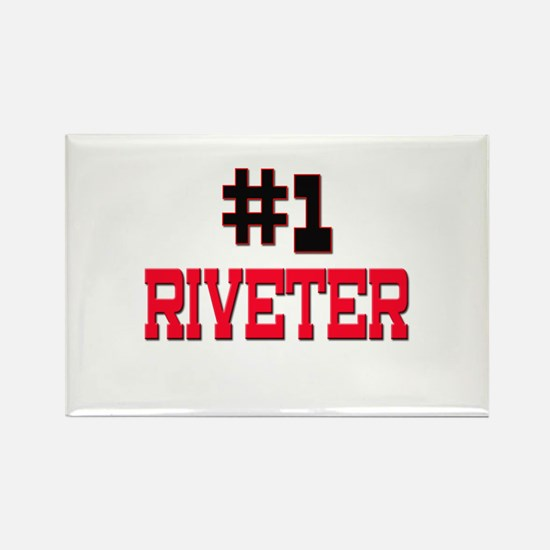 Number 1 RIVETER Rectangle Magnet