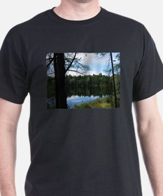 Pond in the Woods Black T-Shirt