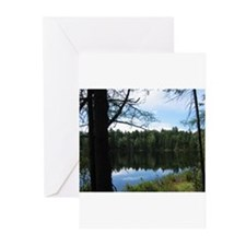 Pond in the Woods Greeting Cards (Pk of 10)
