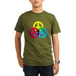 Glowing Colorful Peace signs Organic Men's T-Shirt