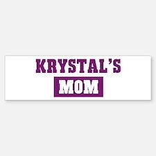 Krystals Mom Bumper Bumper Bumper Sticker