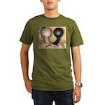 Jacobin Pigeons Organic Men's T-Shirt (dark)