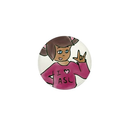 """Destiny signing """"I love you"""" Mini Button (100 pack"""