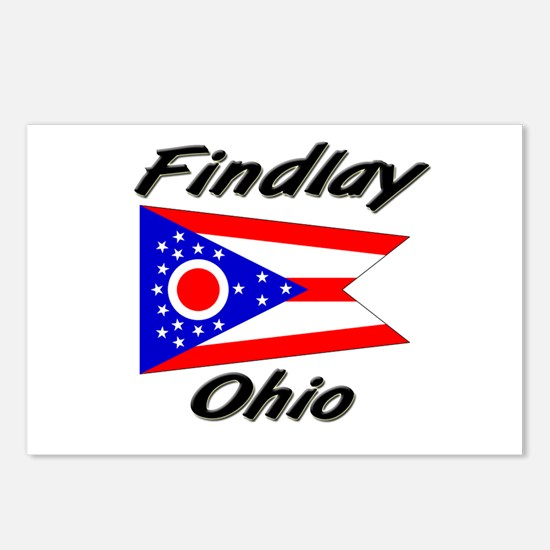 Findlay Ohio Postcards (Package of 8)