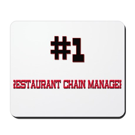 Number 1 RESTAURANT CHAIN MANAGER Mousepad