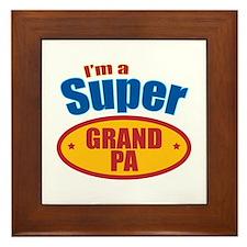Super Grandpa Framed Tile