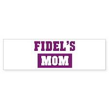 Fidels Mom Bumper Bumper Sticker