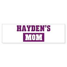 Haydens Mom Bumper Bumper Sticker