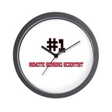 Number 1 REMOTE SENSING SCIENTIST Wall Clock