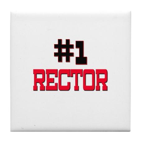 Number 1 RECTOR Tile Coaster