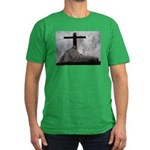 Mary and Jesus Men's Fitted T-Shirt (dark)