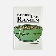 Everybody Loves Ramen (Noodles) Rectangle Magnet
