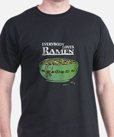 Everybody Loves Ramen (Noodles) Black T-Shirt