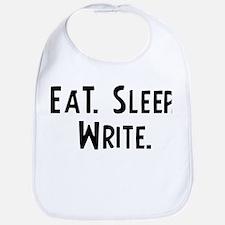 Eat, Sleep, Write Bib