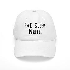 Eat, Sleep, Write Baseball Cap
