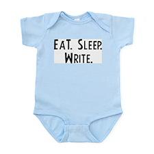 Eat, Sleep, Write Infant Creeper