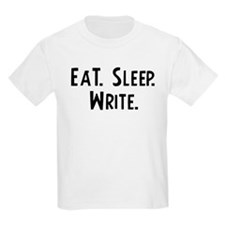 Eat, Sleep, Write Kids T-Shirt