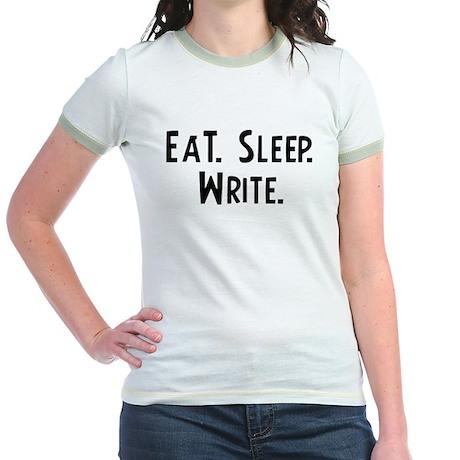 Eat, Sleep, Write Jr. Ringer T-Shirt