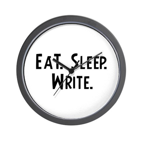 Eat, Sleep, Write Wall Clock