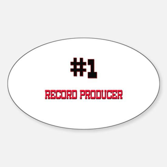 Number 1 RECORD PRODUCER Oval Decal