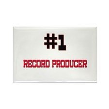 Number 1 RECORD PRODUCER Rectangle Magnet