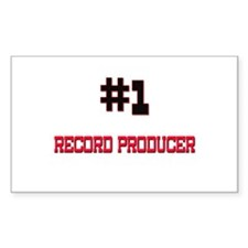 Number 1 RECORD PRODUCER Rectangle Decal