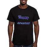 Happy Dreamer Men's Fitted T-Shirt (dark)