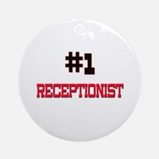 Number 1 RECEPTIONIST Ornament (Round)