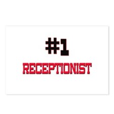 Number 1 RECEPTIONIST Postcards (Package of 8)