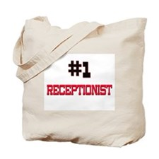 Number 1 RECEPTIONIST Tote Bag