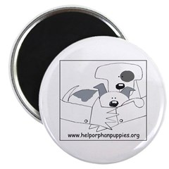 Help Orphan Puppies Magnet