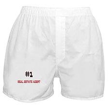 Number 1 REAL ESTATE AGENT Boxer Shorts