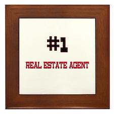 Number 1 REAL ESTATE AGENT Framed Tile